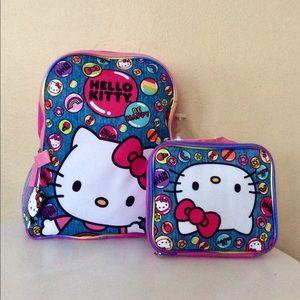 🆕 kids school backpack lunch box set
